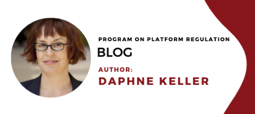 Daphne Keller Blog header