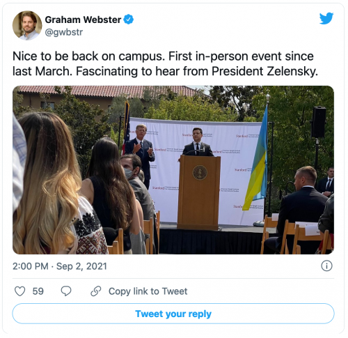 Tweet from Graham Webster
