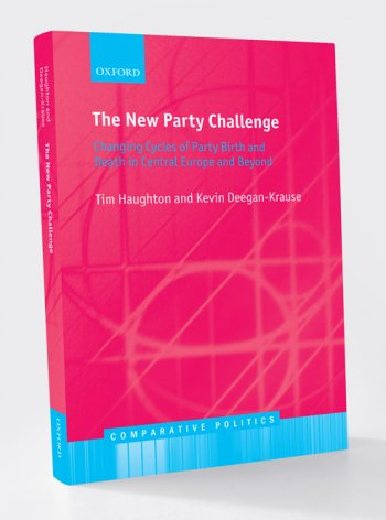 "Front cover of book titled ""The New Party Challenge: Changing Cycles of Party Birth and Death in Central Europe and Beyond"""