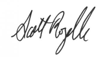 Scott Rozelle's handwritten signature.