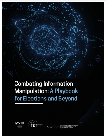 combatting information manipulation playbook cover